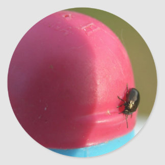 Black bug on Badminton Birdie Sticker