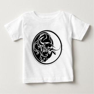 Black Bull Illustration Baby T-Shirt