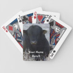 Black Bull in Tumbleweeds - Your Name Ranch Deck Of Cards