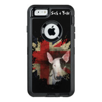 Black Bull Terrier Union Jack OtterBox Defender iPhone Case