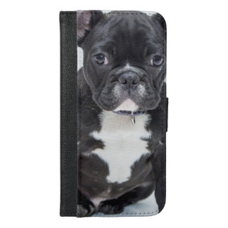 Black Bulldog iPhone 6/6s Plus Wallet Case