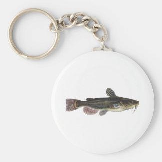 Black Bullhead Catfish Art Keychain