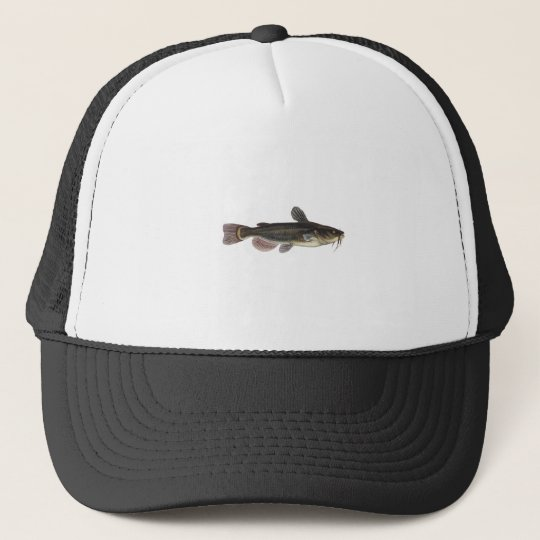 Black Bullhead Catfish Art Trucker Hat