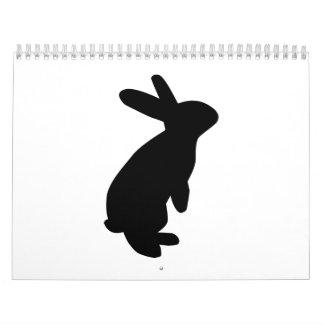 Black bunny calendar