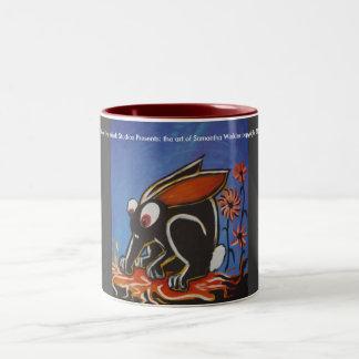 black bunny mug