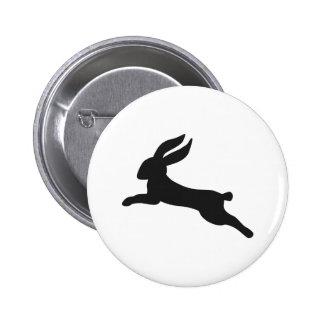 Black bunny rabbit 2 inch round button