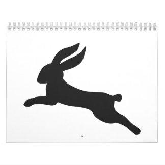 Black bunny rabbit calendar