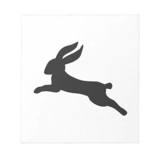 Black bunny rabbit note pad