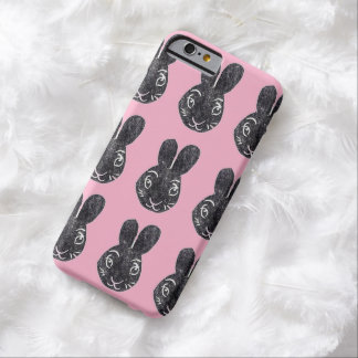 Black Bunny Rabbits with Pink iPhone 6 Case