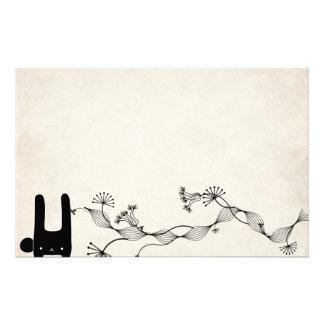 black bunny stationery