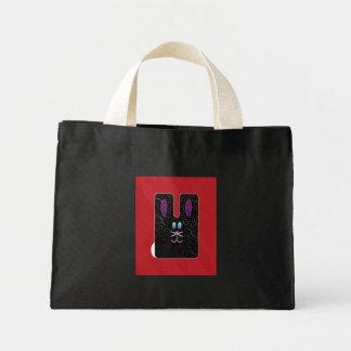 Black bunny tote bags