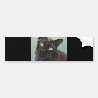 Black Burmese Cat Moose Bumper Sticker