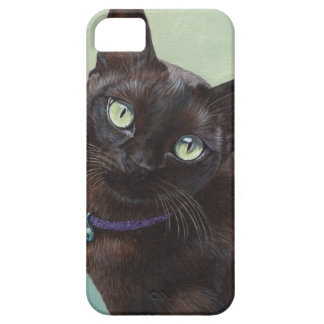 Black Burmese Cat Moose iPhone 5 Covers