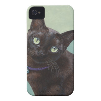 Black Burmese Cat Moose iPhone 4 Covers