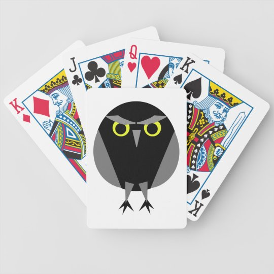 Black Burrowing Owl Playing Cards
