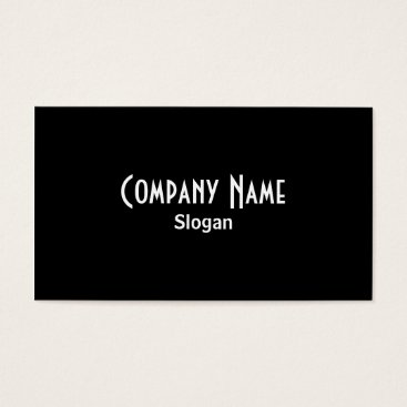 Professional Business Black Business Card