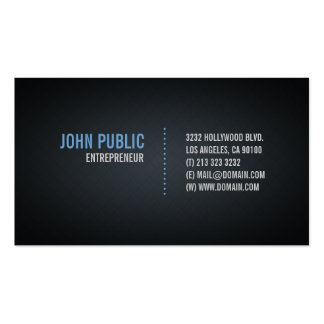 Black Business Card with Diamond Tile Pattern