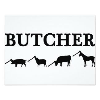 black butcher icon text card