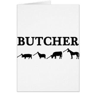 black butcher icon text card
