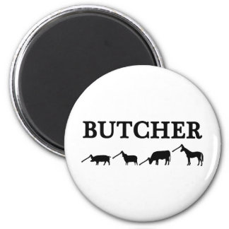 black butcher icon text magnet