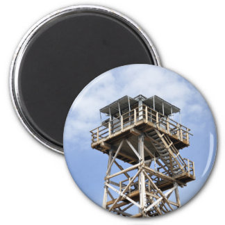 Black Butte Lookout Tower 2 Inch Round Magnet