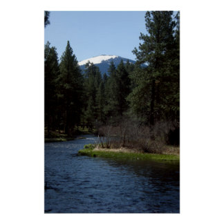 Black Butte over the Metolius Posters