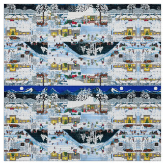 Black Butte Ranch Christmas Fabric
