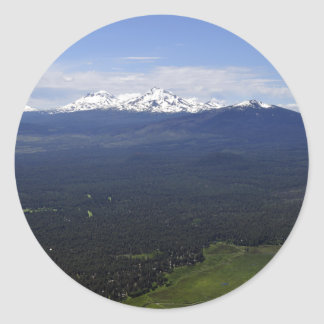 Black Butte Ranch & Three Sisters Classic Round Sticker