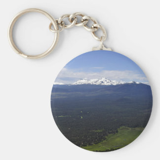 Black Butte Ranch & Three Sisters Basic Round Button Keychain