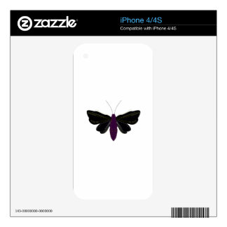 Black butter fly on white decal for the iPhone 4S