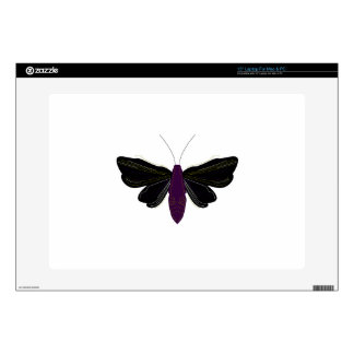 Black butter fly on white laptop skin
