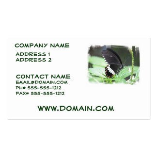 Black Butterfly Business Card