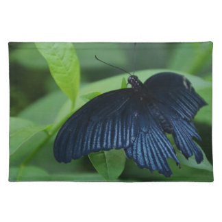 Black Butterfly Cloth Placemat