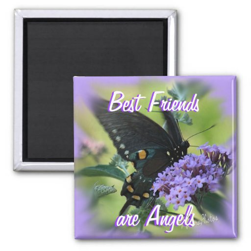 Black Butterfly-customize 2 Inch Square Magnet