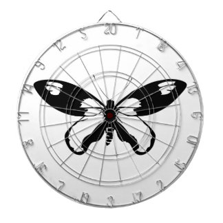 Black Butterfly Dartboard With Darts