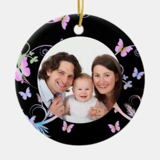 Black Butterfly Frame Christmas Ornament