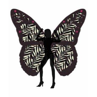 Black Butterfly Lady Tshirt shirt