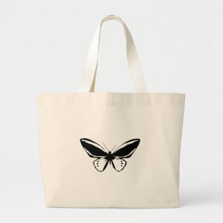 Black Butterfly Large Tote Bag