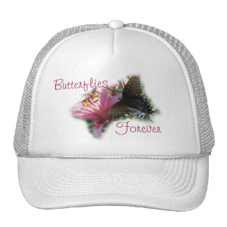Black Butterfly - Mauve Lily Cap-customize Trucker Hat