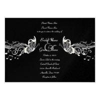 Black Butterfly Music Fidelity Wedding Invitations (<em>$3.40</em>)