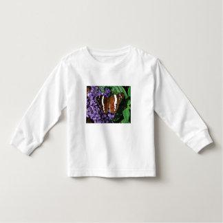 Black Butterfly on Heliotrope Tshirt