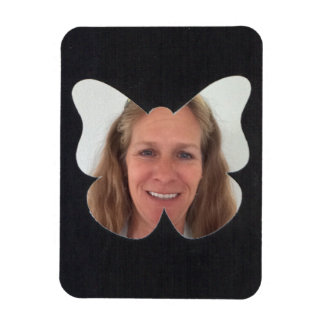 Black Butterfly Photo Frame Magnet