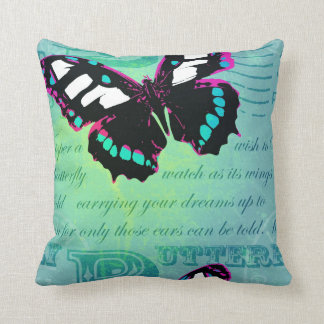 Black Butterfly Pillow/Cusion Throw Pillow