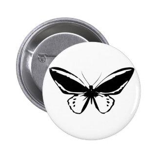 Black Butterfly Pinback Button