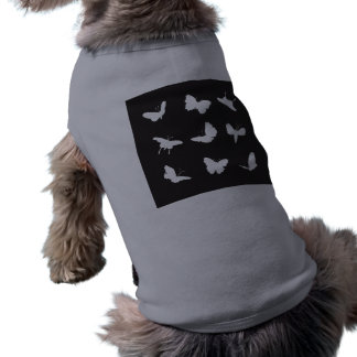 Black Butterfly Shapes Doggie Shirt