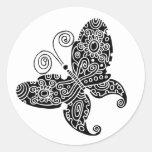 Black Butterfly Sticker