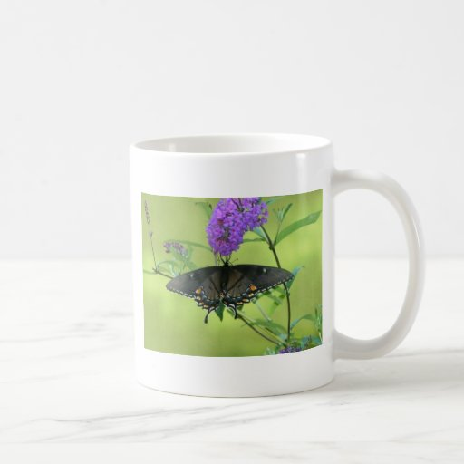 Black Butterfly Templete Items Classic White Coffee Mug