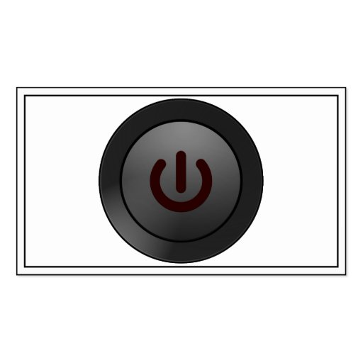 Black Button - On Symbol Business Card