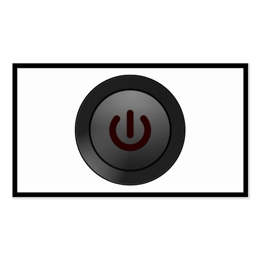 Black Button - On Symbol Business Cards