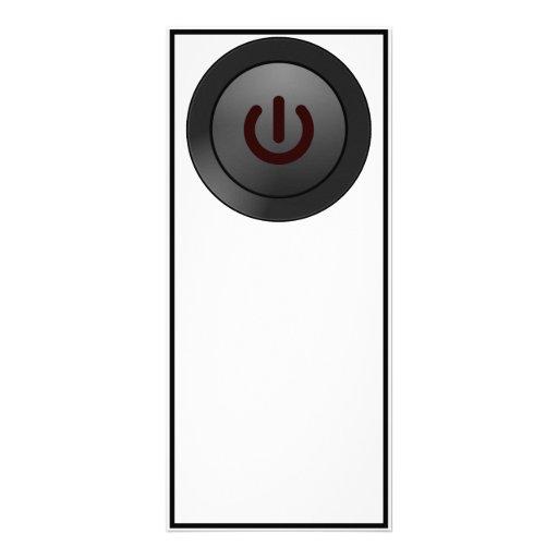 Black Button - On Symbol Custom Rack Card